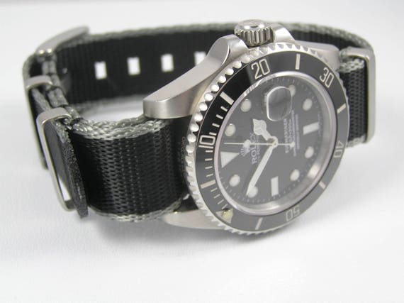 Ultimate Dense Twill Weave NATO® strap for Rolex Submariner Yacht,Master  GMT Daytona Sea Dweller Deep Sea 20mm (No Watch , Strap Only)