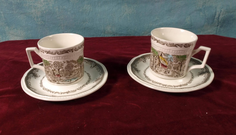 Shakespeare Sonnets Perfect Romantic Gift For 2 Cups Saucers Kensington Stafford Ironstone