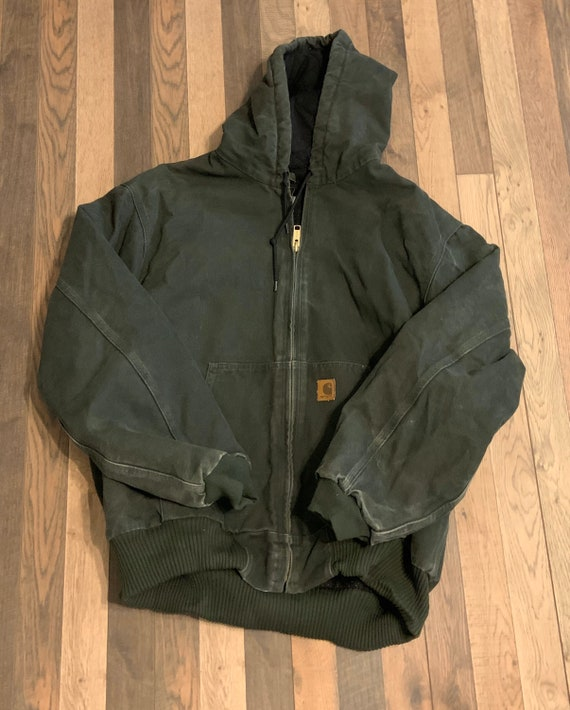 Carhartt work wear jacket with hoody XL