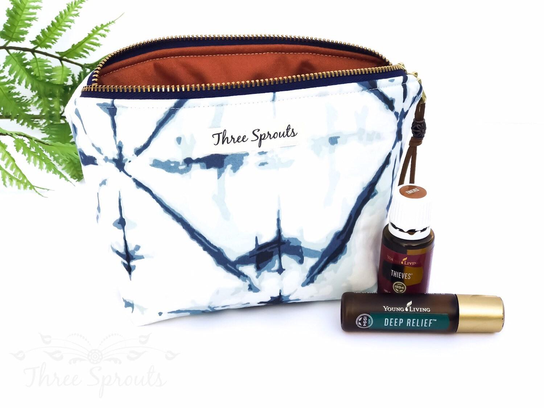 Essential oil bag holds 6 bottles Mini flat essential oil Bag Essential oil gift Essential oil storage essential oil case travel
