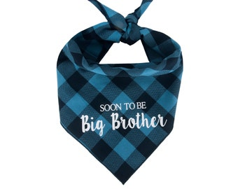 Dog Bandana Birth Baby Announcement, Soon to be Big Brother, Baby Announcement, Big Brother Bandana, New Brother Dog Bandana, Baby Shower