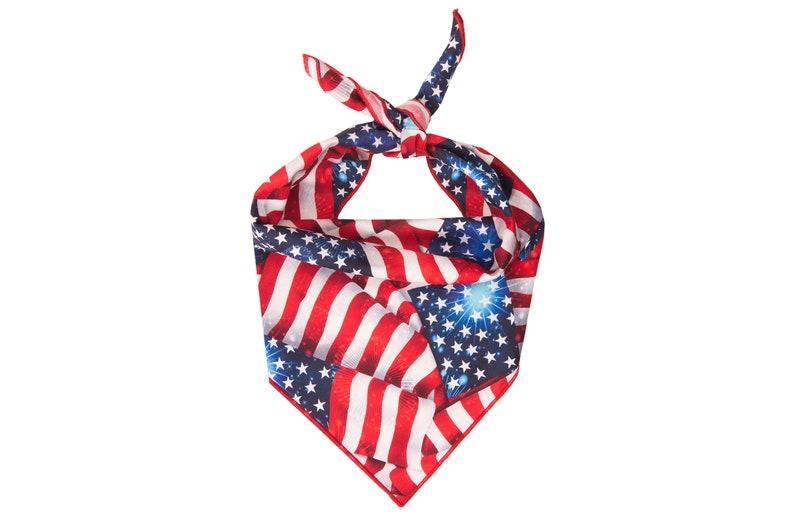 Patriotic Dog Bandana American Flag Dog Bandana Red White and Blue Dog Bandana Stars and Stripes Dog Bandana 4th of July Dog Bandana