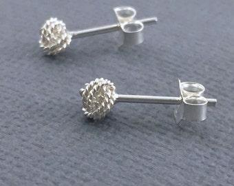 Sterling silver small stud earrings, Silver post earrings, Simple stud earrings, Tiny studs, Small stud earring, Silver ball stud earring