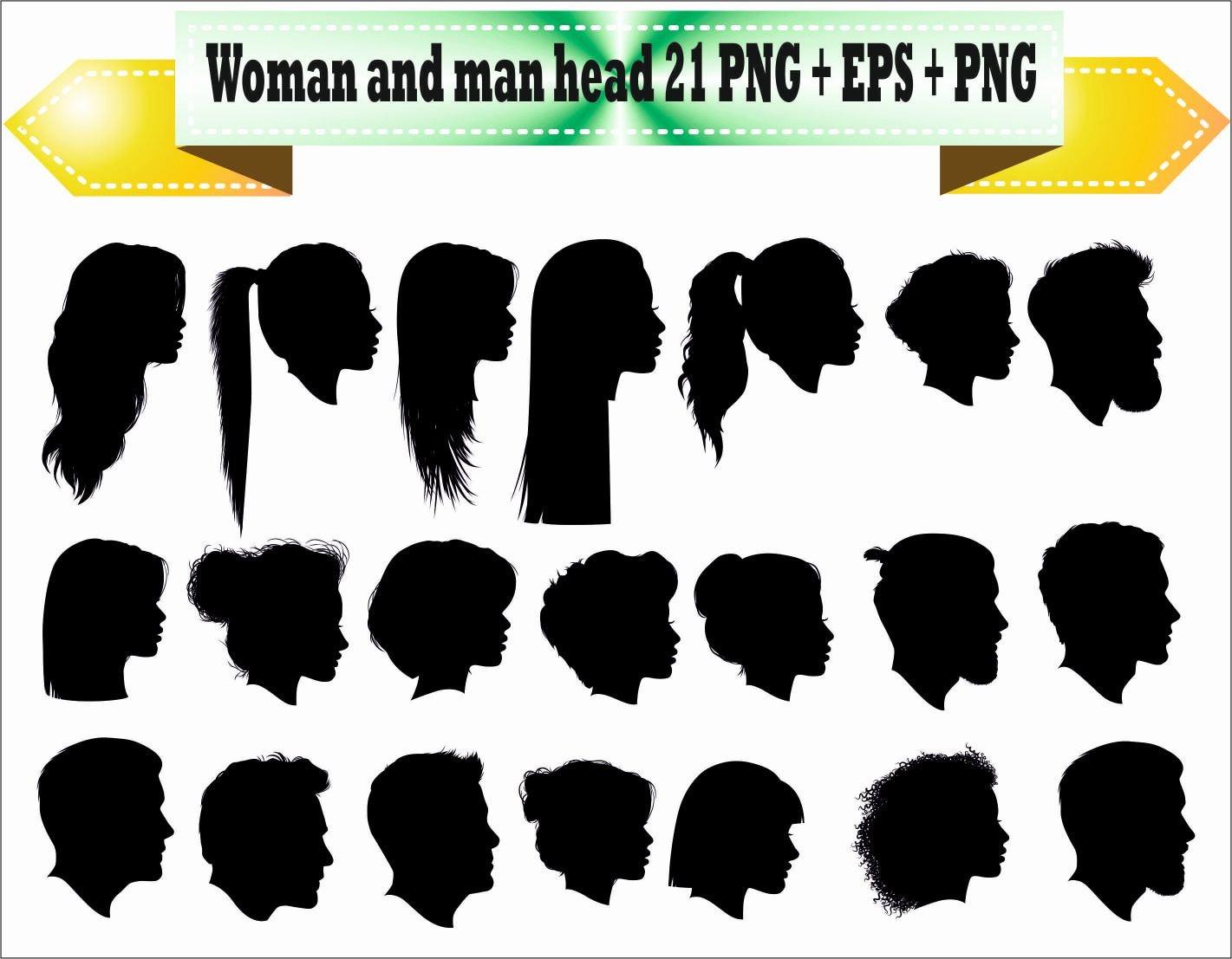 Women Woman Men Boy Girl Head Hair Hairdresser Hairstyle Etsy