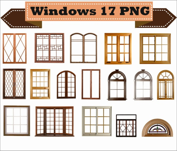 Window Windows Frame Photo Old Retro Classic Vintage Clipart | Etsy