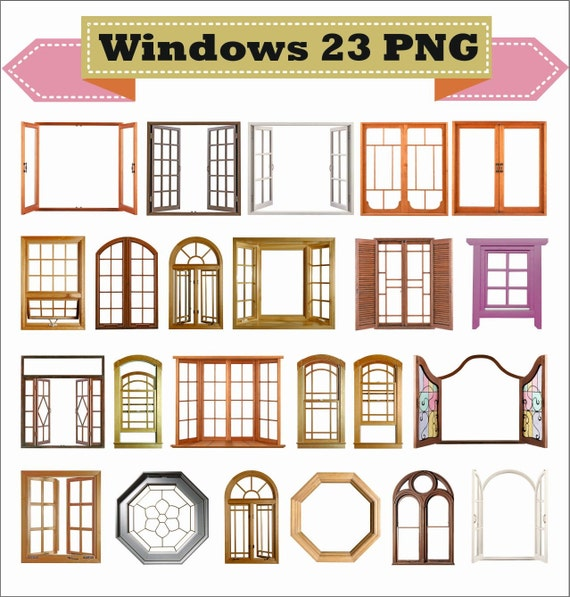 Window Windows Frame Photo Old Retro Classic Vintage Clipart