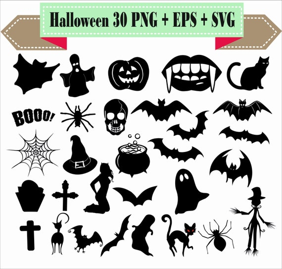 halloween monster pumpkin bat spider net ghost spirit etsy rh etsy com All Halloween Pictures Clip Art Disney Halloween Clip Art