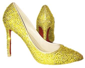 45c7526a87b6 Custom Rhinestone High Heels