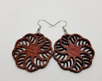 Birch wood earrings