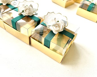 infinity favor Personalized gift favors for wedding cardboard favor gift favor 40 pcs.weddings favors box chocolate favor gold favor