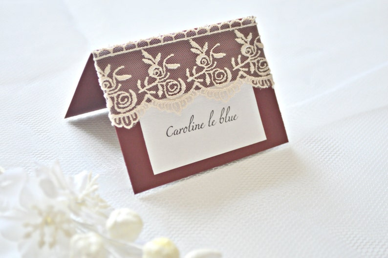 Lace wedding place cards burgundy place cards red place cards grey place cards lace escort cards wedding place cards place cards