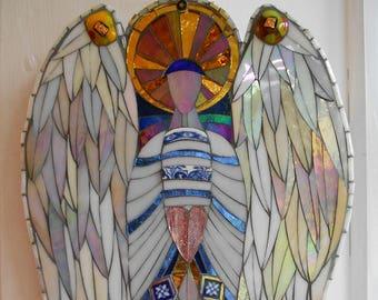 Angel Mosaic Wall Art