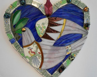 Dove of peace mosaic wall hanging
