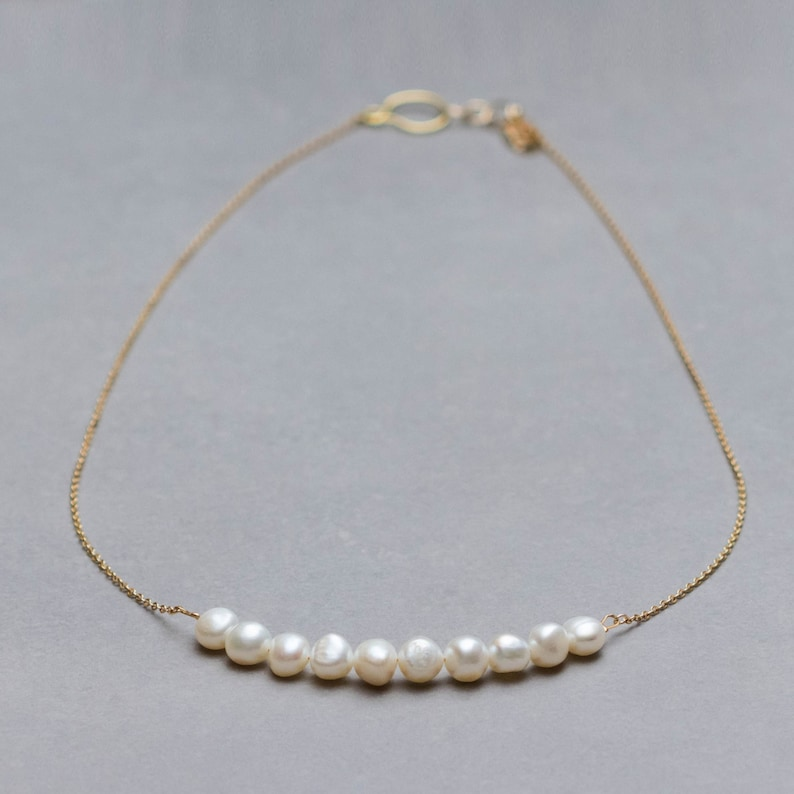 Real pearls necklace Classic pearls Pearls necklace Evening necklace Wedding jewelry Real pearl necklace