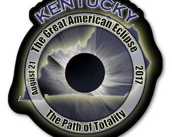 Dark Side of the Moon Total Solar Eclipse 2017 Sticker EC032 Kentucky