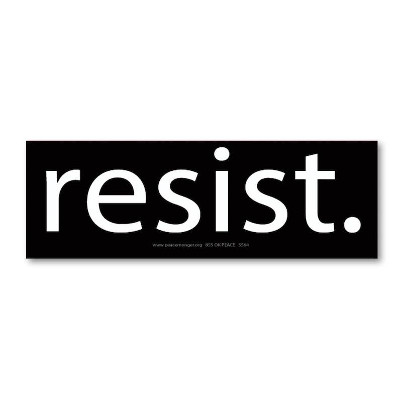MS155-X Anti Trump Text Anti President Donald Trump Mini Sticker