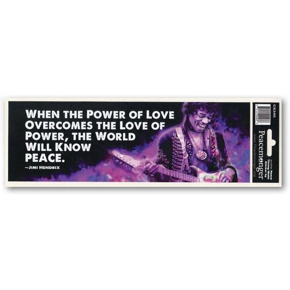 Cs340 Power Of Love Jimi Hendrix Quote Peace Purple Haze Color Etsy