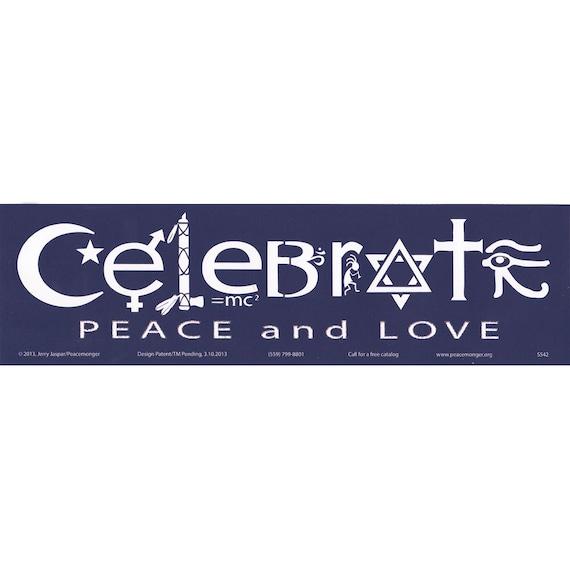 Coexist SymbolGlyphs Original Peacemonger Design Large Bumper Sticker S001