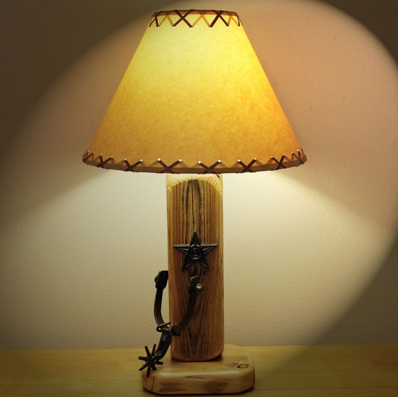 Rustic Lodge//Cabin Style Lamp.Bear Fishing In His Canoe Table Lamp with 14 Parchment Shade