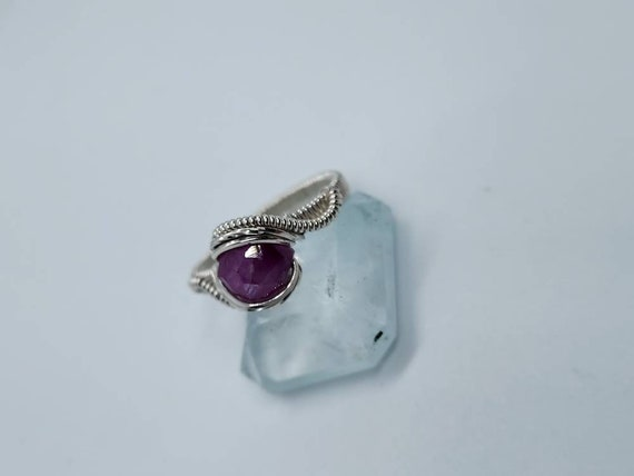 Pink sapphire .925  Ring