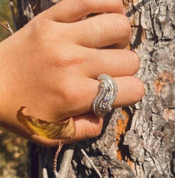 Triple Amethyst Ring