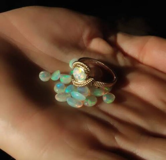 Simple Opal Goldfill Ring