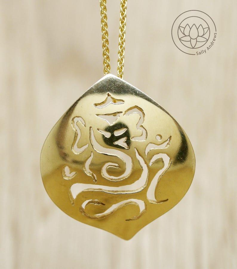 ee79da1d2865f Ganesh pendant, sterling silver handmade original design Uk hallmarked  Elephant necklace 18ct rose + 22ct gold plated, Hindu inspired