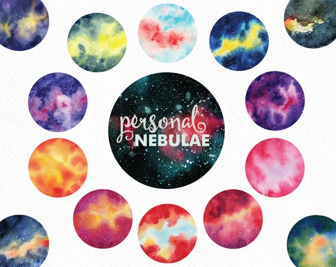 Watercolor nebula clipart, galaxy clipart, cosmos, night sky clipart, hand painted, space clip art, blog graphics, star clipart, scrapbook