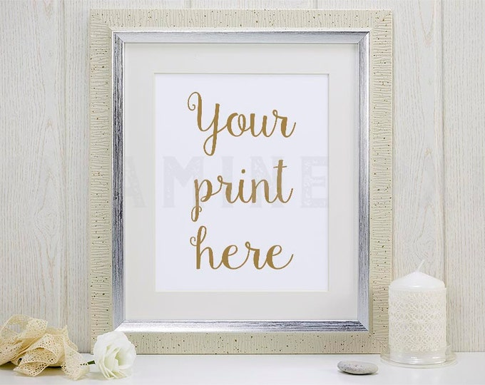 Silver Frame Mockup, Print mockup, photography, artwork mock-up, picture mock-up, styled background, stock photo, product mock-up