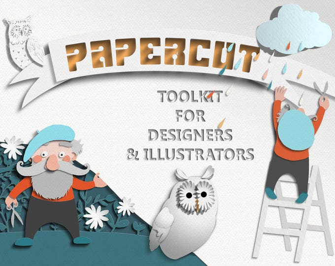 Papercut Toolkit for Photoshop CS6+ and CC, digital papercut