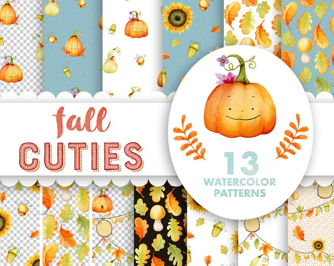 Fall Pumpkins digital papers