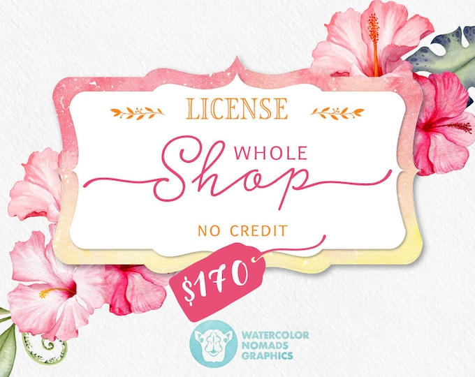 Extended Commercial license for all clipart collections by Watercolor Nomads