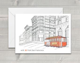 Cable Car San Francisco Greeting Card