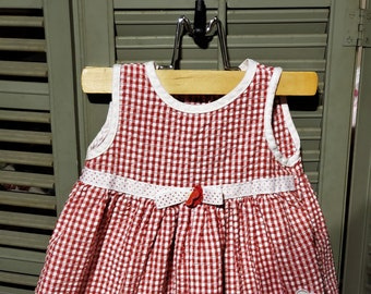 d3d84ab1771 Free shipping - Little girl red gingham