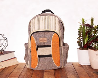 Mimosa Floral Cotton Drawstring Backpack
