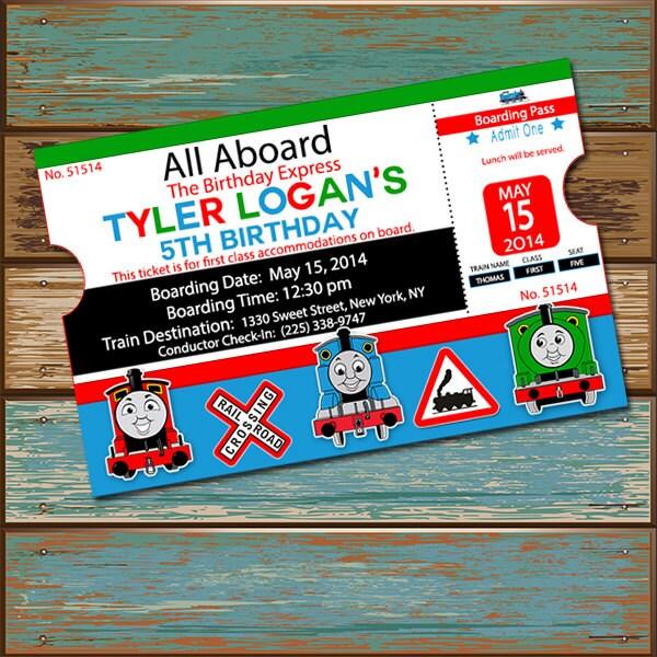 Thomas The Train Birthday Invite Invitation And Friends