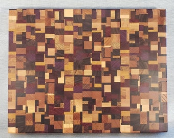 Chaotic or Mosaic Wooden End Grain Cutting Boards  (CB82)