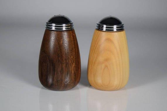 BLACK WALNUT SALT and Pepper Shakers
