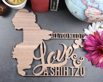 Shih Tzu Plaque - Wooden Shih Tzu Plaque - Shih Tzu Plaque. Perfect for Shih Tzu lovers. Shih Tzu obsessives.