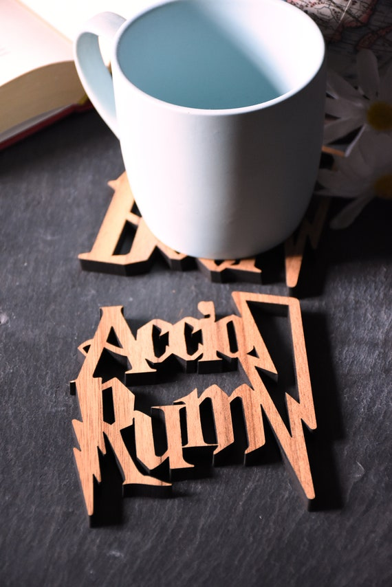 Ideal gift for Harry Potter obsessives. Individual Harry Potter Accio Cider Coaster Perfect for Harry Potter lovers