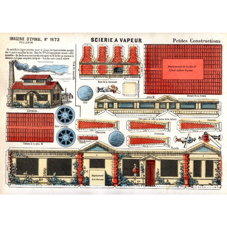 picture about Printable Buildings called 5x Basic PAPER Design and style Constructions - Printable Sheet Scans - Print, Minimize Out, Create (Obtain Local community 2)