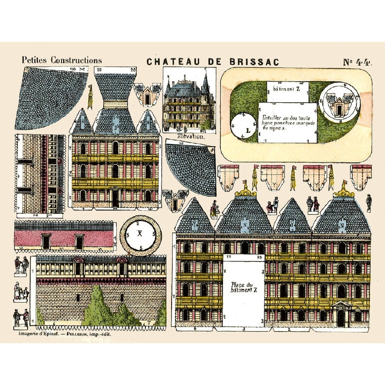 graphic relating to Printable Buildings known as 5x Classic PAPER Design and style Constructions - Printable Toy Sheet Scans - Print, Reduce Out, Deliver (Neighborhood 1)