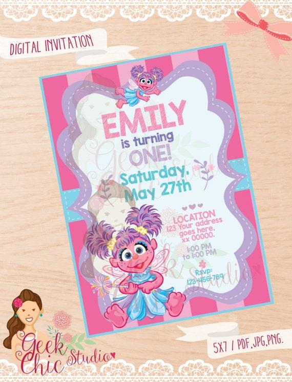 Abby Cadabby Invitation Abby Cadabby Abby Cadabby Invite Abby Cadabby Party Abby Cadabby Birthday Sesame Street Invitation