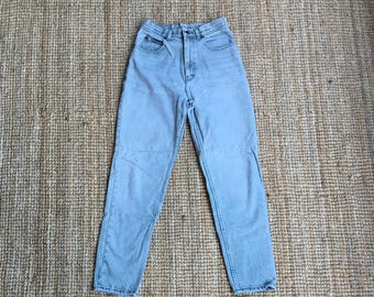 Vintage Light Green Jordache High Waisted Jeans / Colored Denim / Mom Jeans / High Waisted / Size 8