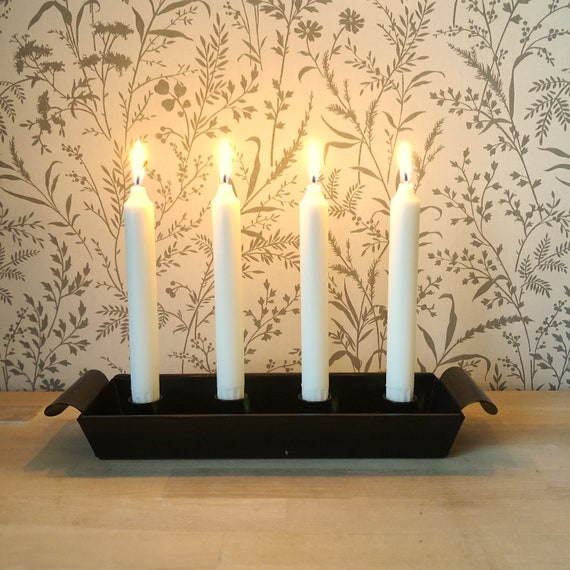 Advent candle holder Black Iron Advent Candle holder made in Sweden Christmas swedish candle holder