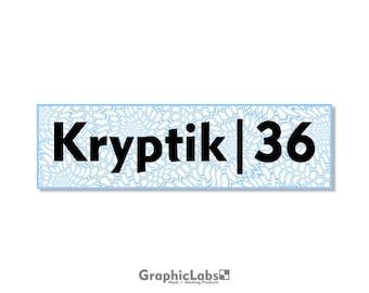 "Kryptik | 36"" by 10"" Vinyl Spray Mask Camo Stencil for Rifles, Shotguns, Handguns & Small Equipment"