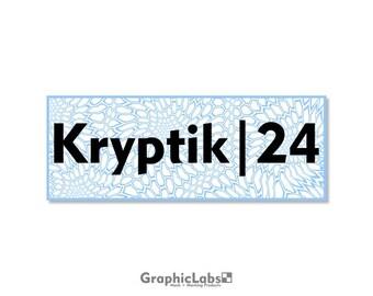 "Kryptik | 24"" by 9"" Vinyl Spray Mask Camo Stencil for Rifles, Shotguns, Handguns & Small Equipment"