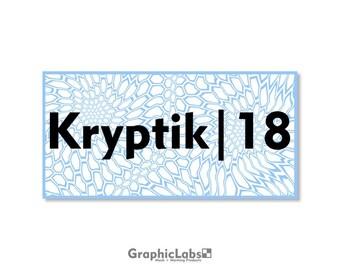 "Kryptik | 18"" by 9"" Vinyl Spray Mask Camo Stencil for Rifles, Shotguns, Handguns & Small Equipment"