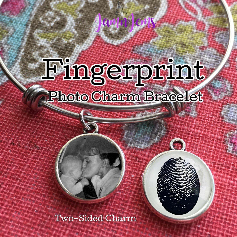 Fingerprint Jewelry Custom Photo Bracelet Fingerprint Jewellery