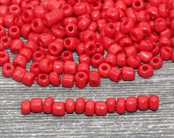 Seed Beads-5mm Handmade Glass-Indonesia-Matte Terra Cotta-Quantity 1